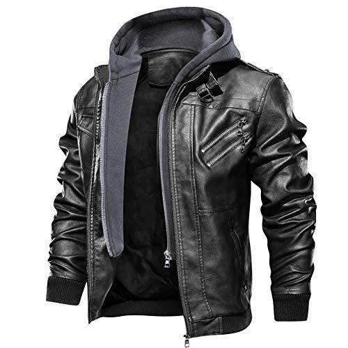 FEDTOSING Slim Fit Vintage PU Leather Jacket Motorbike...