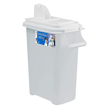 Buddeez Large (Up to 12lb) Fresh Dry Dog & Cat Food Plastic Storage Container with Flip Lid and Pour Spout for Pet Food and Bird Seed, BPA Free
