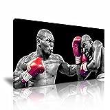 Mike Tyson vs. Evander Holyfield Boxen Leinwand Kunstdruck