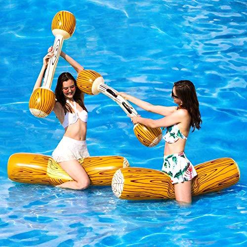 Battle Log Falts para 2 jugadores, adultos y niños, piscina inflable Float Row Battle Tys, juguetes para la piscina de verano, fiestas, agua, deportes acuáticos
