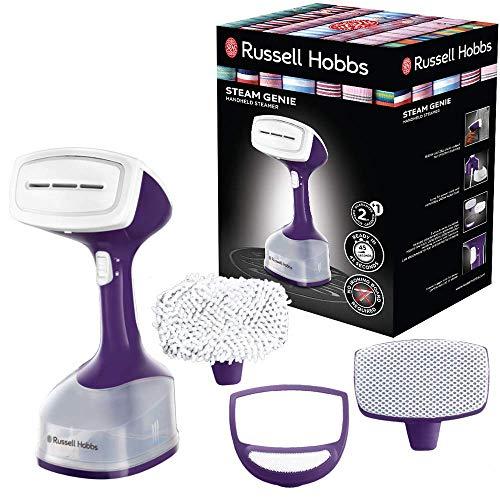 Russell Hobbs Steam Genie 25600-56 - Plancha de vapor vertical, cepillo de mano, incluye 3 accesorios ropa, 1650 W, color morado