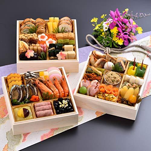 京都 しょうざん おせち料理 2021 千ヶ峰 三段重 50品 盛り付け済み 冷蔵おせち 3人前〜4人前 お届け日:12月31日