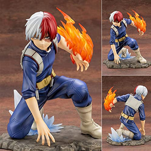 Klycbds Anime My Hero Academia Figure Shoto Todoroki Figurine Action PVC Modello da Collezione Decorazioni Bambola Giocattoli per Bambini 16 Cm