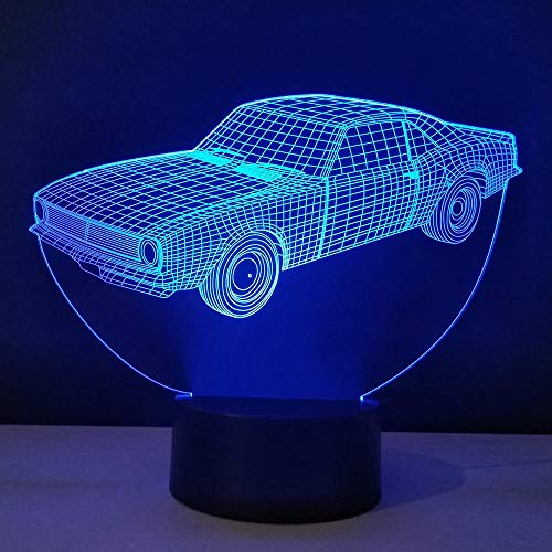 Lámpara de ilusión 3D, luz de noche LED, decoración Ara, lámpara de mesa para coche, placa luminosa de metacrilato, lámpara de escritorio, bombilla ambiental de ahorro de energía