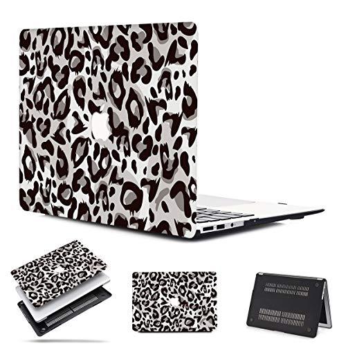 PapyHall Carcasa de plástico solo compatible con MacBook Pro de 13 pulgadas con Touch Bar Touch ID A1708/A1706/A1989/A2159 Leopard Gray