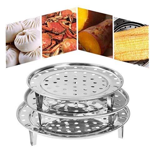 BYFRI Edelstahl-dampfer Rack-runde Dampfgarungsschale Ständer Dumpling Tray Dampfer Regal Für Lebensmittel Trivet Kochen Werkzeug 20cm