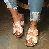 Anoauit Sandali in pantofogli da Donna in Prua Sandali da Sci da Sci da Estate Slittamento di Punta Aperta Slide Ladies Fashion Hollow Light Slip on Sandals Scarpe-Rosa_36.