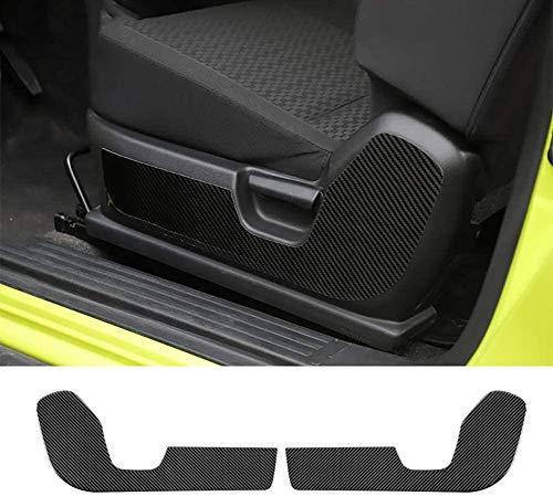 NBPLUS Adhesivo decorativo de fibra de carbono para el asiento delantero del coche, para Suzuki Jimny 2019 2020
