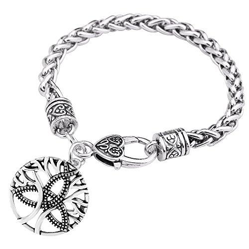 My Form Vintage Amulett Baum des Lebens Charme Armband Trinity Knoten Armreif Geschenk Schmuck für Männer Frauen