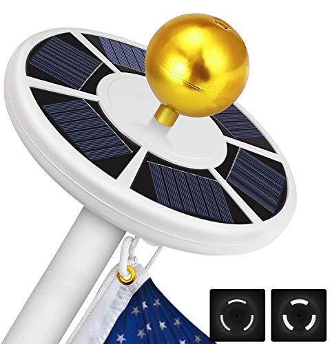 AOPMET 111 LED Solar Flag Pole Light