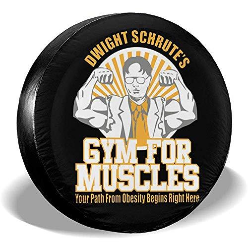 Dwight Schrutes Fitnessstudio für Muskeln Staubdicht wasserdichte Reifenabdeckung Reserverad-Reifenabdeckungs-Passform