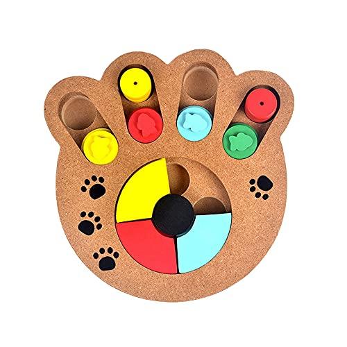Swetup Hund Puzzle Feeder Spielzeug, Intelligenzspielzeug für Haustiere, Interaktives Hundespielzeug, Hunde Lernspielzeug Strategiespiel Holz Anti-Rutsch-Puzzle-Spielzeug für Hunde,Welpen und Katzen