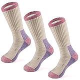 MERIWOOL Chaussettes de randonnée en laine mérinos pour homme et femme – 3 paires de chaussettes mi-poids rembourré – Chaud n Respirant, Homme, Crépuscule, X-Large