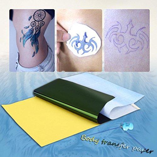 10 Blatt Tattoo-Schablonen Transferpapier Thermo-Transferpapier Kopie Body Art Versorgung