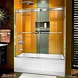 DreamLine Sapphire 56-60 in. W x 60 in. H Semi-Frameless Bypass Tub Door in...
