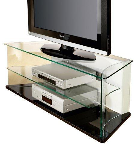 VCM Cadiz TV-Möbel Schwarzlack/Glas