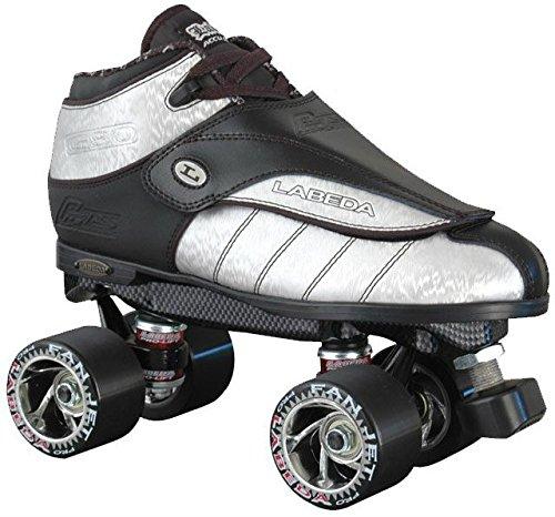 Labeda New G-80 Silver Streak Leather Quad Speed Roller Derby Jam Skates (07)