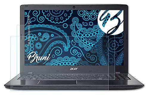 Bruni Schutzfolie kompatibel mit Acer Aspire E E5-576 Folie, glasklare Bildschirmschutzfolie (2X)