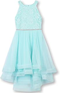 89f8103984b2 Speechless Girls' 7-16 Tween Sparkle Waist Party Dress with Wide Ribbon Hem