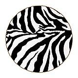 Posavasos para Bebidas Impresión de Caballo de Tira Redondo Portavasos Juego de 6 Cuero Decorativo Coaster Creativa Posavasos Set de Regalo 11x11 cm