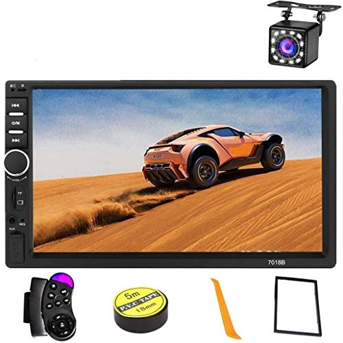 Car Stereo 2 Din,7 inch Touch Screen MP5/MP4/MP3 Multimedia Player,Bluetooth Audio,Car Stereo Receivers,FM Radio,USB/SD/AUX Input,Mirror Link,Support Steering Wheel Remote Control,Rear View Camera