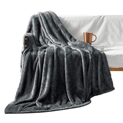Exclusivo Mezcla Plush Fuzzy Large Fleece Throw Blanket (50