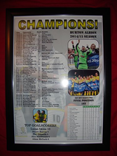 Burton Albion League Two champions 2015 - framed print