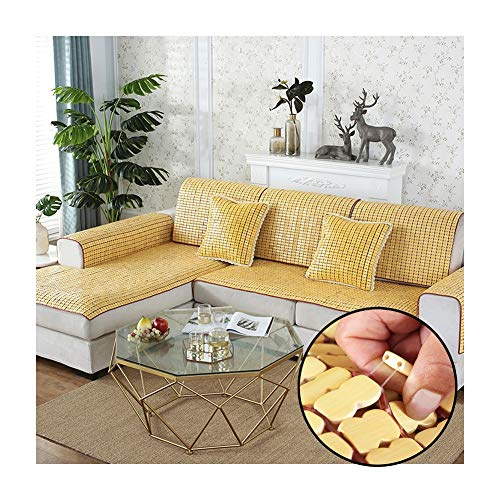 LJIANW-Summer Sleeping Mats, Couch Cover, Sofa Cover 2020 Summer Mat Cushion Anti-Slip Glitch-free Breathable Easy To Clean For Sofa Chair Wicker Chair, Custom Size (Color : Beige, Size : 70x140cm)