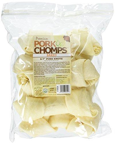 Premium Pork Chomps Baked Knotz Pork, 6-7', 6 Count