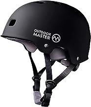 کلاه اسکیت بورد OutdoorMaster - کلاه ایمنی سبک وزن ، اسکیت کم وزن و آزاد BMX با پوشش جداشدنی - سیستم تهویه 12 دریچه - برای کودکان ، جوانان و بزرگسالان