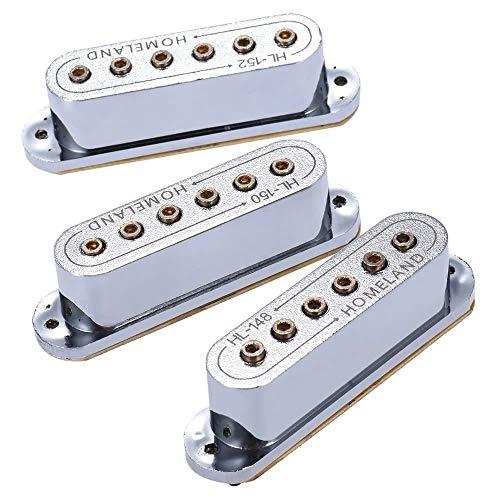 Pastillas Electrónicas Piezoeléctricas 3pcs pasiva magnética de recogida de doble bobina del agujero de sonidos de guitarra eléctrica Guitarras Folk Acústicas Clásicas ( Color : 1 , Size : One