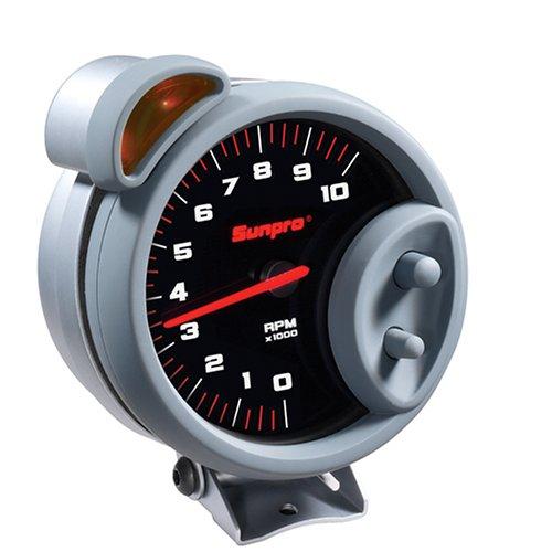 Sunpro CP7900 Sport Super Tachometer - Black Dial