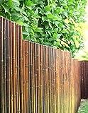 DE-COmmerce Robuster Bambus Holz Sicht Schutz Zaun ATY NIGRA I