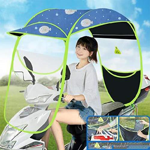 ZYQDRZ Cubierta De Lluvia De Motocicleta Completamente Cerrada, Toldo De Motocicleta, Parabrisas De Scooter, Utilizado para Protección contra El Viento, La Lluvia Y El Sol,C