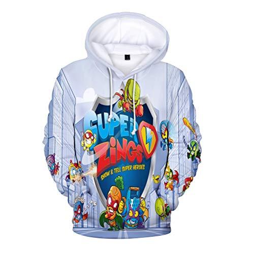 Superzings Equipaje Hispter Style Sudadera Otoño Abarcadero Outwear Outwear Sudaderas con Capucha...