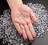 Sweelov 500Stk Funkelnd Herzen Diamantkristalle Streudeko Deko Steine Kristalle Konfetti Diamanten 12mm - 3