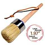 Chalk Paint Brush and Wax Brush for Furniture, Professional Large Round Painting Handmade with All Natural...