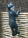 Unbekannt Figur Katze kletternd | Garten Deko | Gartendeko | Garten Figur | Gartenfigur | Katze Skulptur | Höhe 62 cm | Tierskulptur aus Kunstharz