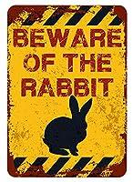 アメリカ雑貨 アメリカン雑貨 英語版 動物注意 ブリキ看板 警告コーギー 金属板 注意サイン情報 サイン金属 安全サイン 警告サイン 表示パネル (RABBIT)