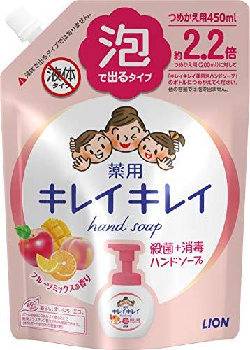 キレイキレイ 薬用 泡ハンドソープ フルーツミックスの香り 詰め替え 450mL