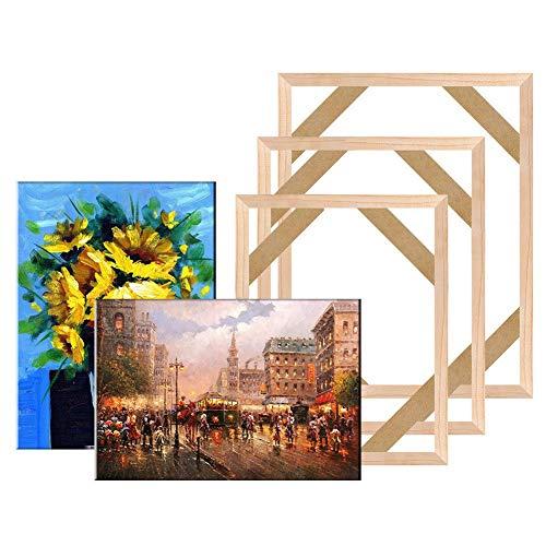 Bhuatk Estructura de Madera Natural for el Lienzo la Imagen de Pintura de producción de Proporcionar Pared del Arte del Cartel de Marco Marco (Color : Width 60cm, Size : Height 45cm)