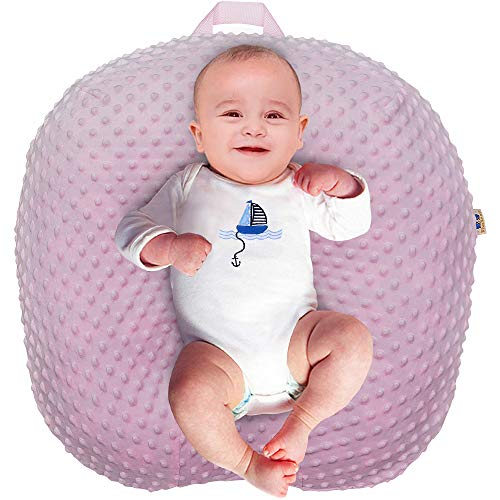 Strechy Minky Newborn Lounger Cover, Removable and Ultra Soft Sung Fitted Baby Lounger Slipcover by BlueSnail (Pink)