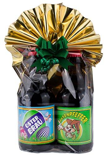 Ostern 2er- Geschenkeset in Folie und Schleife verpackt als Geschenk (Geschenkeset Teil 1)