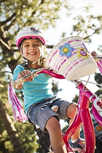 Schwinn Girls Bicycle Basket With Light-up Flowers