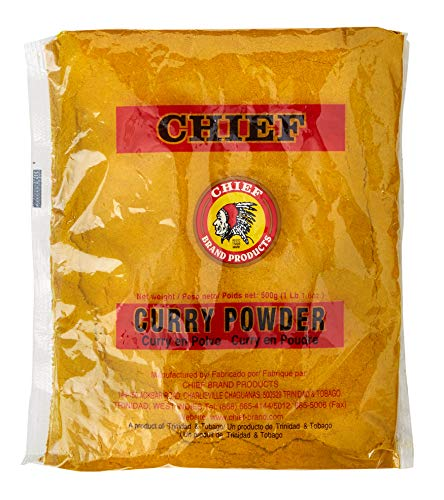 CHIEF CURRY POWDER 500G, 17.5 OZ MADE IN TRINIDAD & TOBAGO