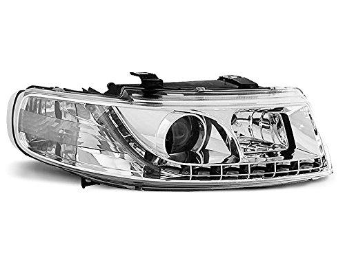 Koplampen Seat Leon/Toledo 99-04 Daylight LED chroom (E11)