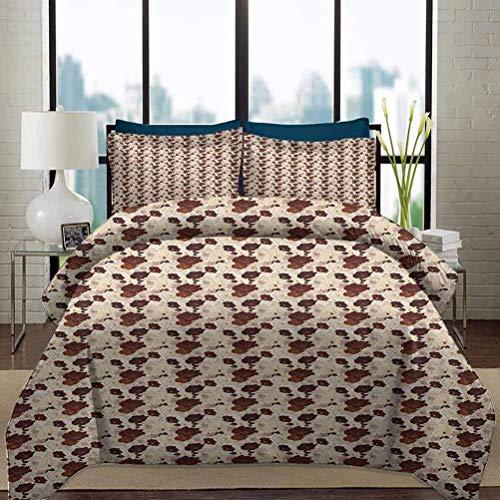 Ropa de cama Juego de funda nórdica Juegos de cama de guardería floral Flores de hibisco dibujadas a mano con colores terrosos Composición de la naturaleza exótica de Hawaii Juego de cama decorativo d
