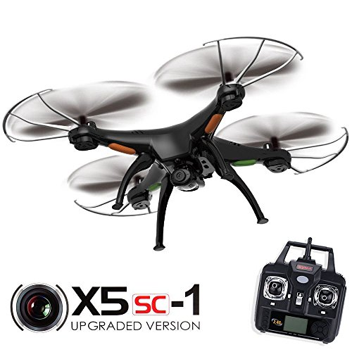 Syma X5SC Explorers 2 - 2.4G 4 Channel 6-Axis Gyro RC Headless Quadcopter With HD Telecamera Nero