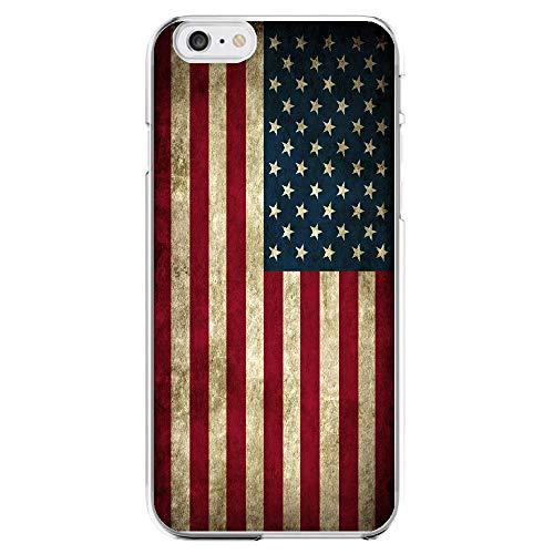 Shot Case Cover van siliconen voor iPhone 6/6S, Vlag van de VS, Vintage, transparant, Gel-bescherming
