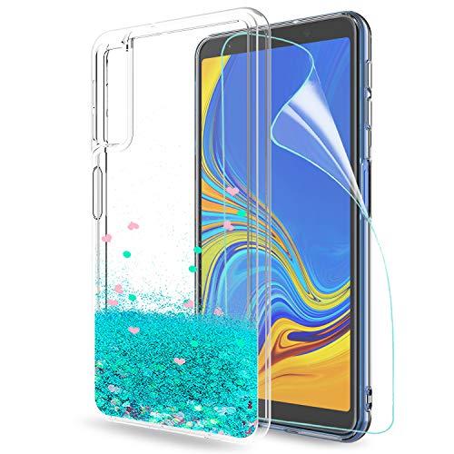 LeYi Compatible Funda Samsung Galaxy A7 2018 Purpurina